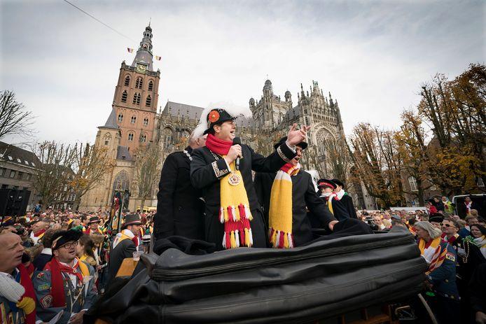 De opening van het carnavalsjaar 2018 op de Bossche Parade.