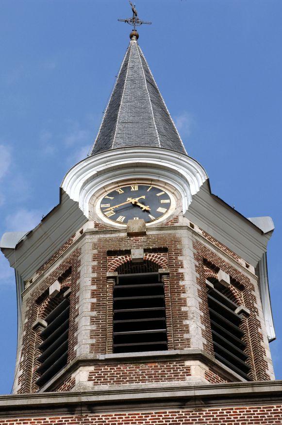 De toren van de kerk van Nieuwrode.