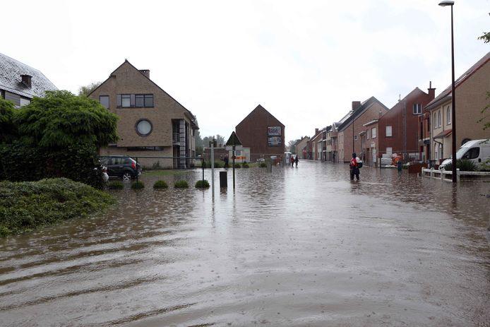 De Impegemstraat kwam enkele jaren terug blank te staan. De locatie is ingekleurd als 'mogelijk overstromingsgevoelig gebied'.
