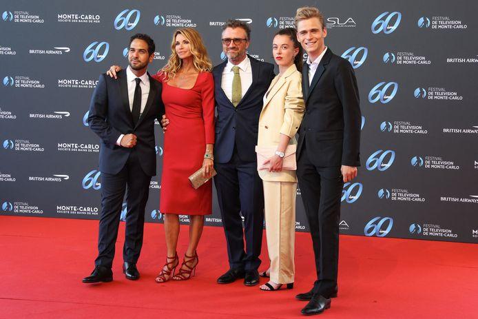 """Le cast de """"Demain nous appartient"""": Samy Gharbi, Ingrid Chauvin, Alexandre Brasseur, Camille Genau et Hector Langevin."""
