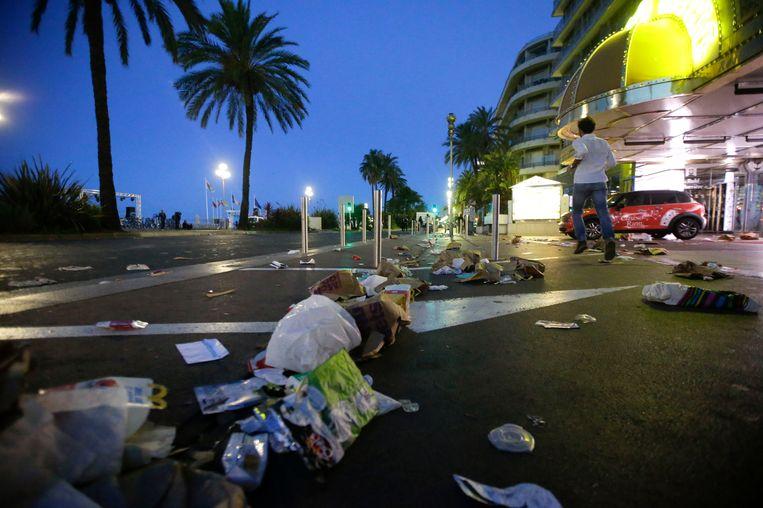 Lege straten van Nice. Beeld ap