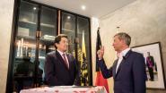 Johan Sauwens (ToB) legt de eed af als burgemeester