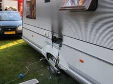 Gewonde bij caravanbrand op recreatiepark in Arnhem