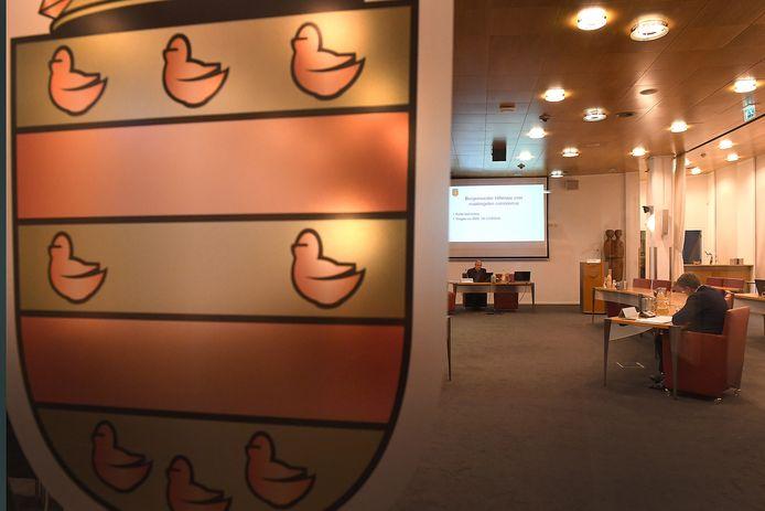 De raadzaal van de gemeente Cuijk.