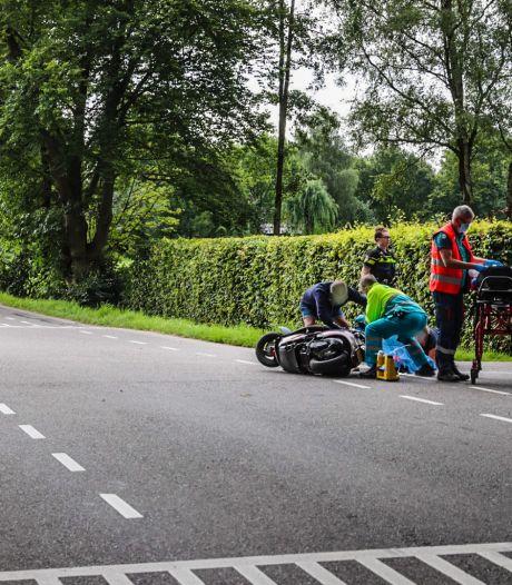 Aanrijding tussen scooter en bestelbus in Voorthuizen