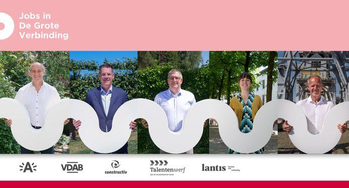 De stad Antwerpen, VDAB, Constructiv, Talentenwerf en Lantis engageren zich om samen zoveel mogelijk Antwerpse arbeidskrachten mee te laten bouwen aan 'De Grote Verbinding'.