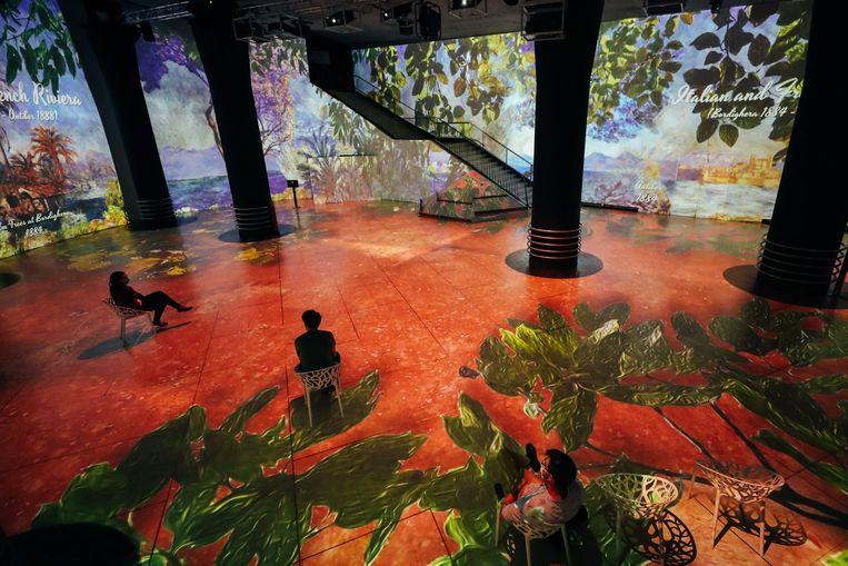 'Claude Monet: The Immersive Experience', eerder in Brussel, in de Horta Galerij.  Beeld Photo News