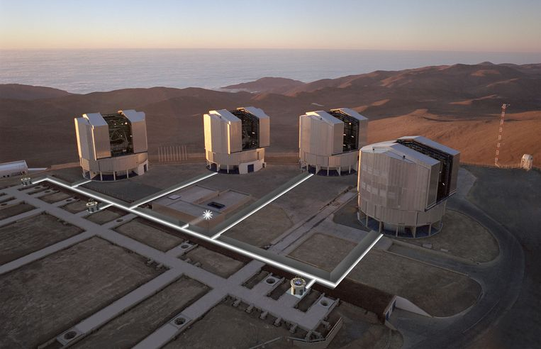 De onderzoekers bekeken de gasplaneet met de Very Large Telescope (VLT) in Chili. Beeld ESO