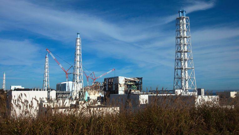 De kapotte kerncentrale van Fukushima. Beeld AP