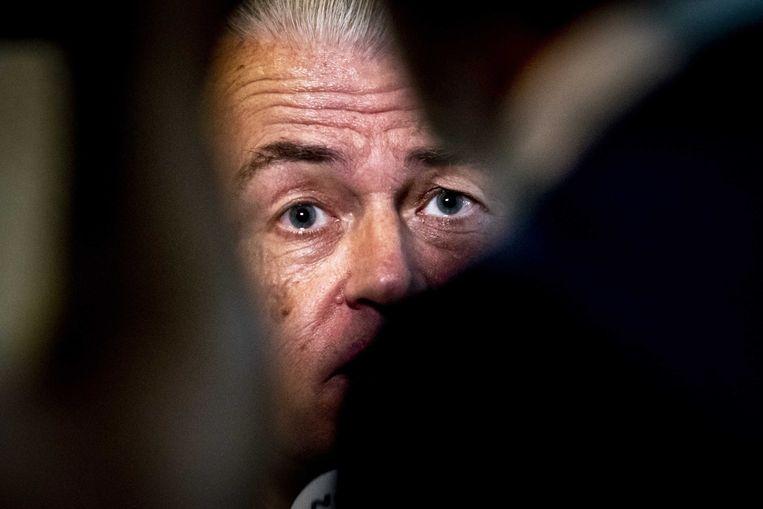 In juli eiste het OM in hoger beroep een geldboete van 5000 euro tegen Wilders, hetzelfde als in eerste aanleg.  Beeld ANP