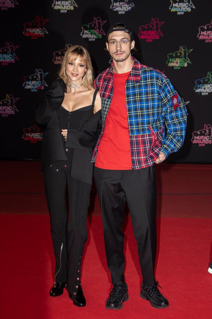 Angèle et Romeo Elvis Van Laeken aux NRJ Music Awards à Cannes.