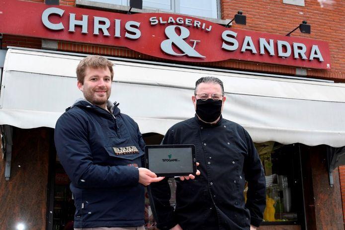Slagerij Chris & Sandra uit Iddergem doet alvast mee met de online pronostiek-actie van de gemeente Denderleeuw.