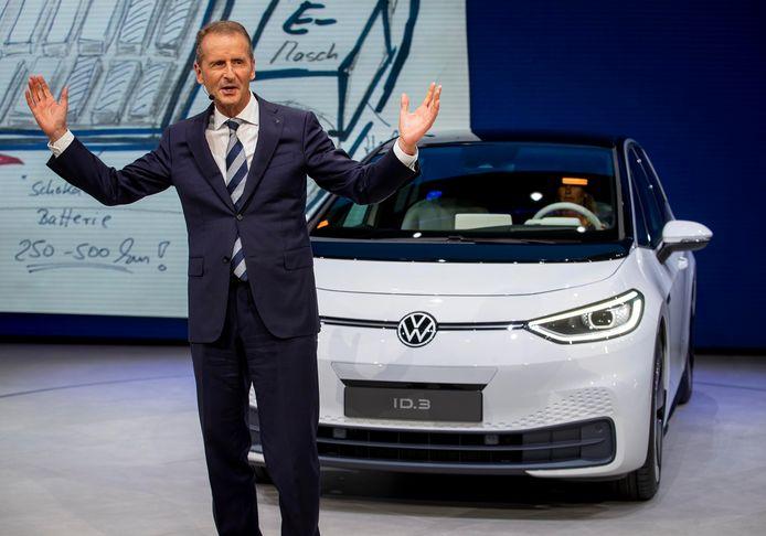 Herbert Diess, CEO van autobouwer Volkswagen.