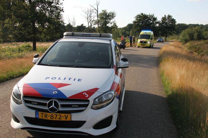 Op de Holterbergweg is zondag aan het begin van de avond een motorrijder onderuit gegaan.