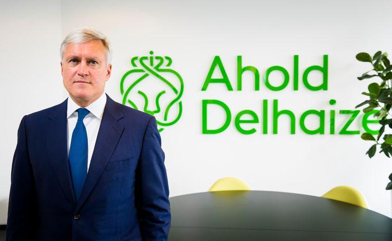 Portret van Frans Muller, CEO bij supermarktgigant Ahold Delhaize. Beeld