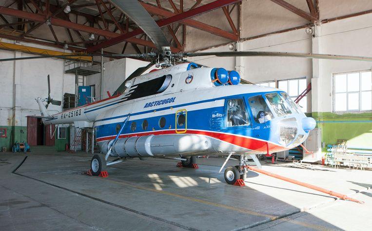 Een Russische helikopter van dit type, op de basis van Barentsburg in Noorwegen. Beeld epa