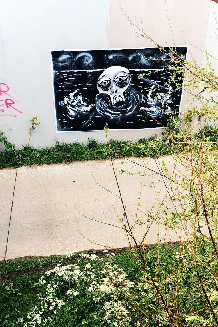 In het Keizerpark zijn basketters, skaters en graffitikunstenaars thuis. Beeld Freek Evers