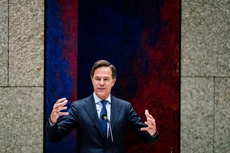 Mark Rutte (VVD) wil de andere partijen ervan overtuigen dat hij zijn bestuursstijl oude stijl wil inwisselen voor een modernere.  Beeld ANP