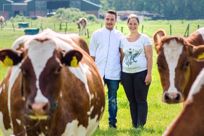 Marc Bierkens en zijn zus Linda begonnen in 2017 samen 't IJsboerinneke: bolletjes van eigen melk.