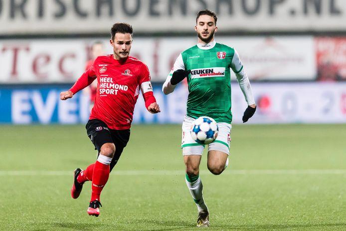 Guus Joppen moest tegen Jong Ajax op het laatste moment afhaken, maar is er tegen FC Den Bosch weer bij.