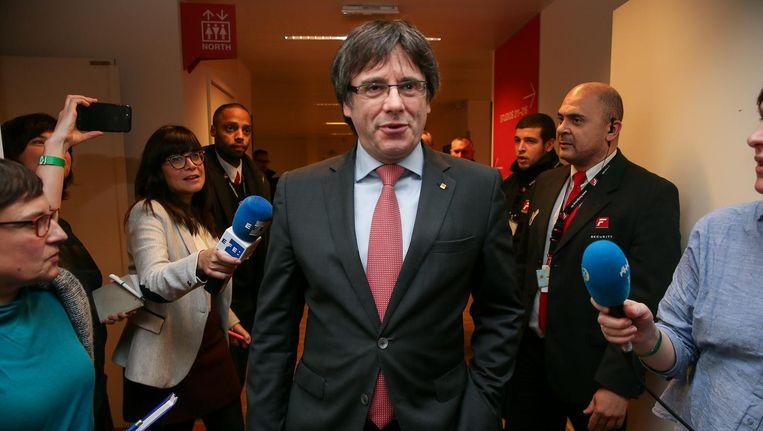 De verdreven regiopremier Carles Puigdemont. Beeld epa