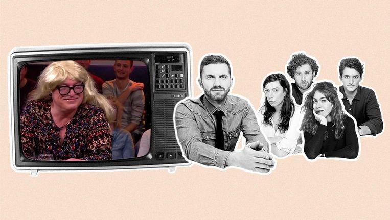 Het televisierecensententeam van de Volkskrant bestaat uit Hanna Bervoets, Gidi Heesakkers, Frank Heinen, Haro Kraak en, deze week, Julien Althuisius. Beeld