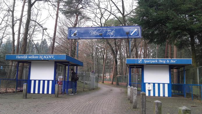 """De ingang van het sportpark van AGOVV. Gert Sangers: ,,Iedereen die hier is geweest, kan het zich herinneren."""""""