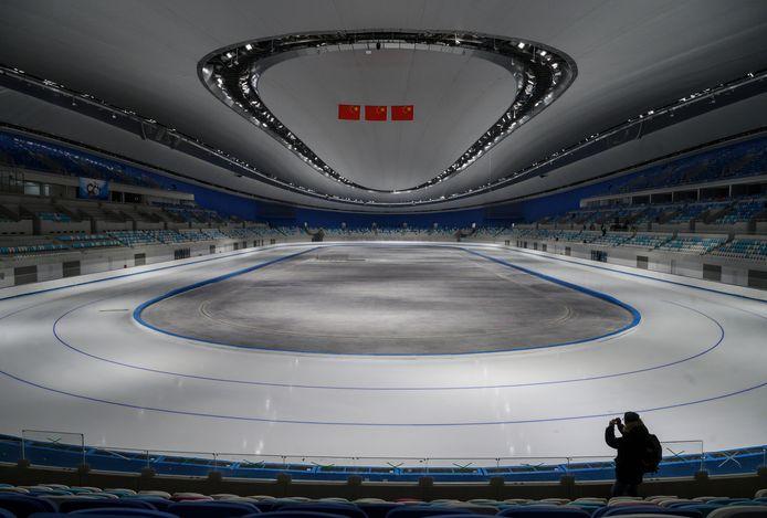 De schaatsarena van Peking.
