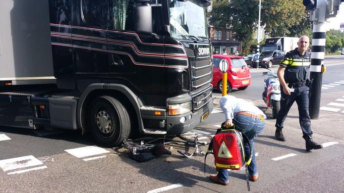 De fietser raakte gewond