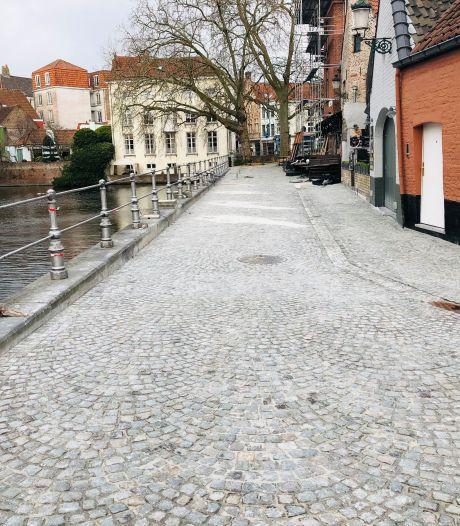 Brugse 'terrasjesstraat' is er klaar voor, nu nog wachten op de horeca