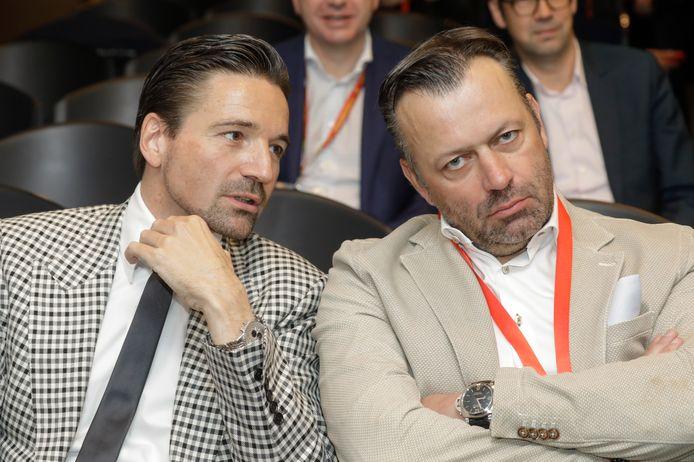 Stefaan Vanroy naast Luk Delbrouck, de advocaat die hem vertegenwoordigt in Propere Handen.