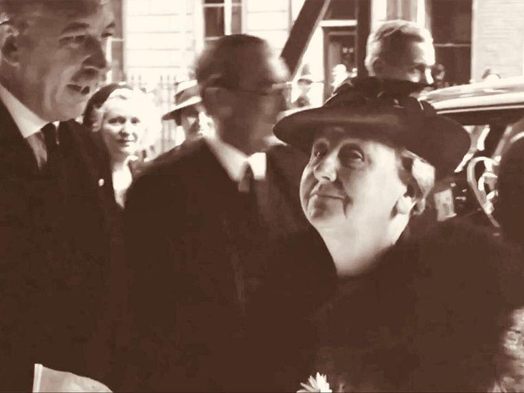 Koningin Wilhelmina toonde vanuit Londen weinig betrokkenheid bij het lot van de Joden. Beeld -