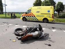 Motorrijder gewond bij botsing met auto in Sint Hubert