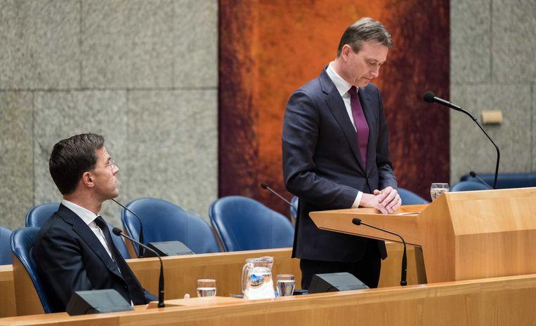 Halbe Zijlstra tijdens zijn verklaring. Beeld ANP