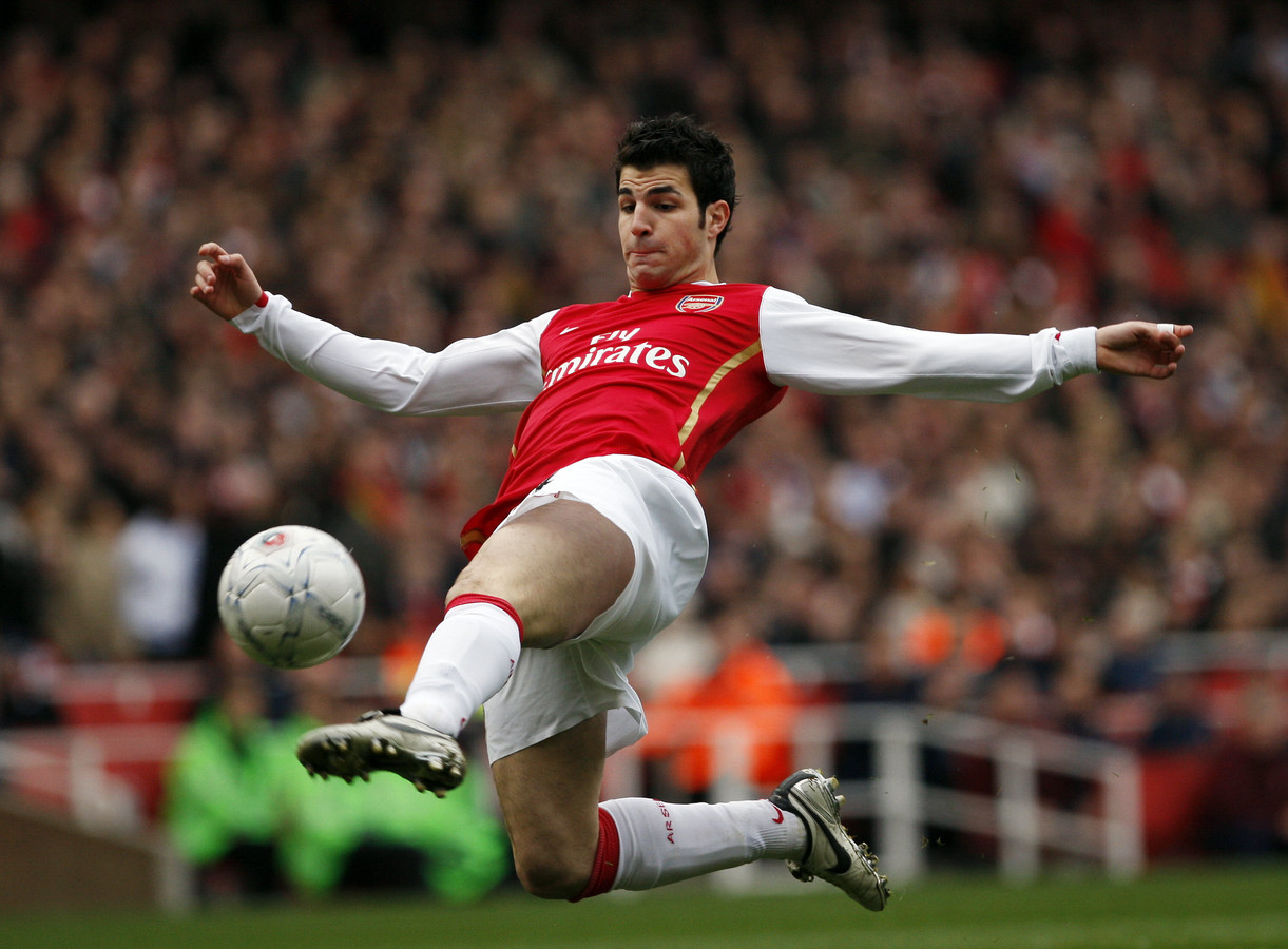 Fàbregas in het shirt van Arsenal.