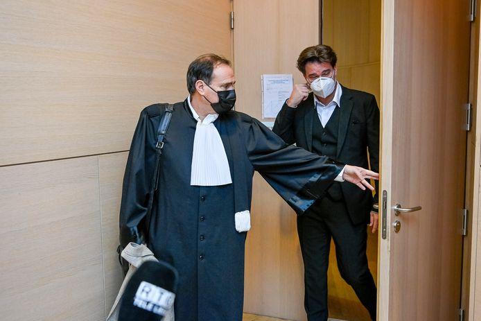 Alain Mathot et son avocat Jean-Philippe Mayence.