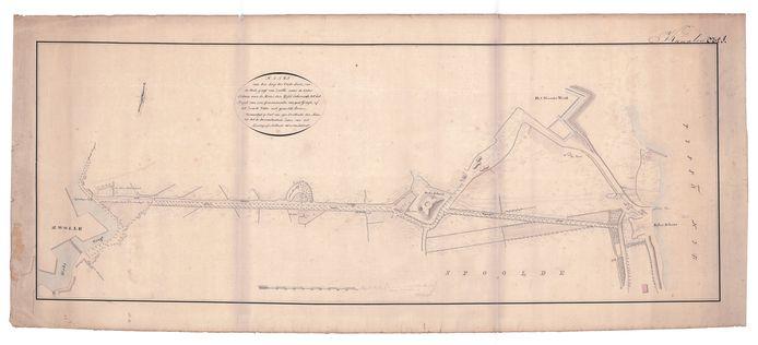 Een kaart van de Willemsvaart.