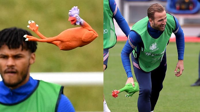 Engeland bereidt zich voor op duel tegen Kroatië met kip