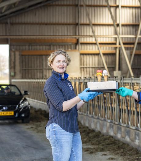 Meterslange file in Denekamp voor een verfrissend ijsje