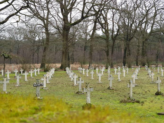 De begraafplaats van Wortel Kolonie. Begin 2020 werd een van de laatste landlopers er begraven.