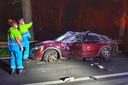 De bestuurder van de auto raakte gewond.