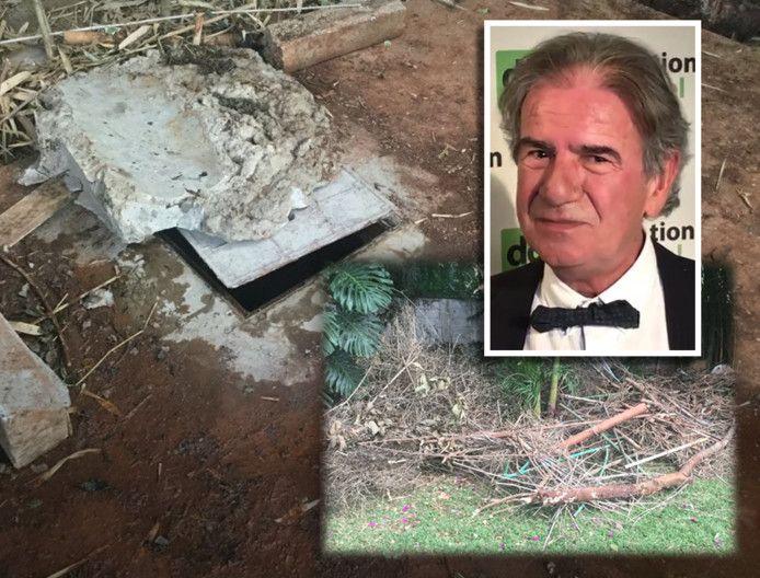 De septic tank waarin Cohens lichaam werd gevonden, was afgedicht met beton