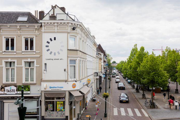 De muurschildering van kunstenaar Darada op de hoek van het Van Coothplein in Breda.