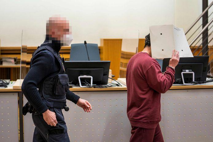 Eyad al-G. tijdens de behandeling van zijn zaak.