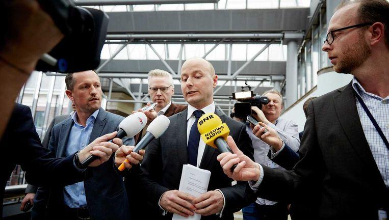 Het afgetreden VVD-Kamerlid Mark Verheijen in het gebouw van de Tweede Kamer. Beeld ANP