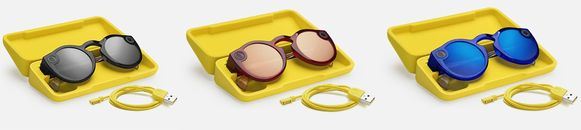 De Spectacles 2.0 is verkrijgbaar in drie kleuren: Onyx, Ruby en Sapphire.