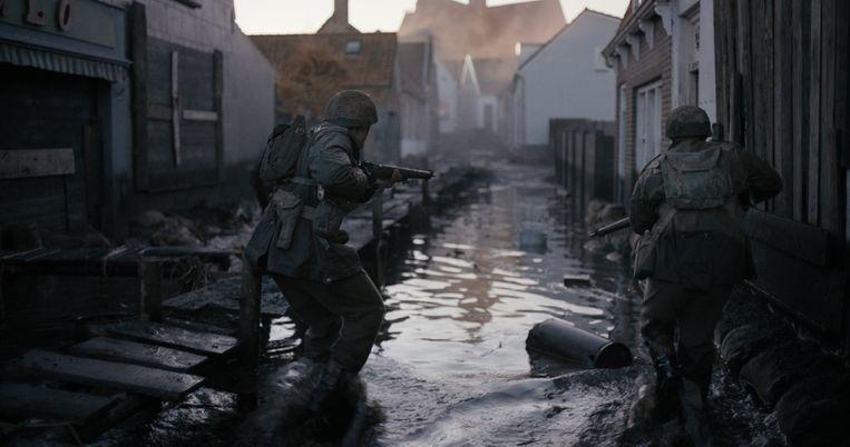 Scène uit De Slag om de Schelde, die in december in première ging en nu in de bioscopen draait. Beeld Lennert Hillege
