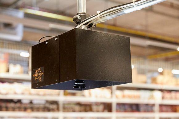 De slimme camera met software, ontwikkeld door AI-bedrijf Robovision uit Gent