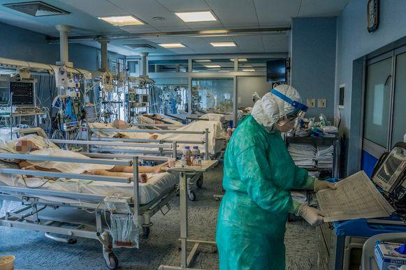 De intensive care van het hospitaal in Cremona nabij Milaan.