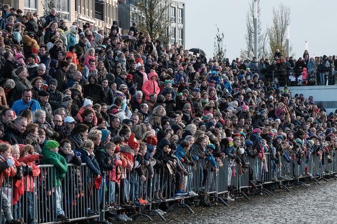 De aankomst van Sinterklaas in Doesburg in 2017.